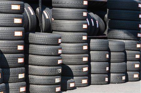 Stacks of car tires Stock Photo - Premium Royalty-Free, Code: 614-06813276
