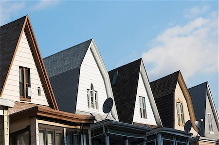 street - Row of clapboard houses, Brooklyn, New York City, USA Stock Photo - Premium Royalty-Free, Code: 614-06813318