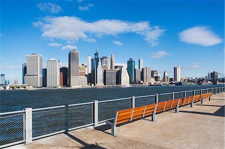 Waterfront view of  Manhattan skyline, New York City, USA Stock Photo - Premium Royalty-Free, Code: 614-06813339