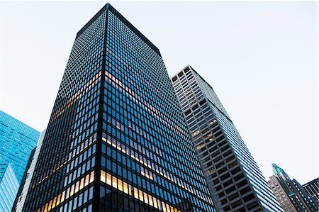 Office buildings, low angle view Stock Photo - Premium Royalty-Free, Code: 614-06813400