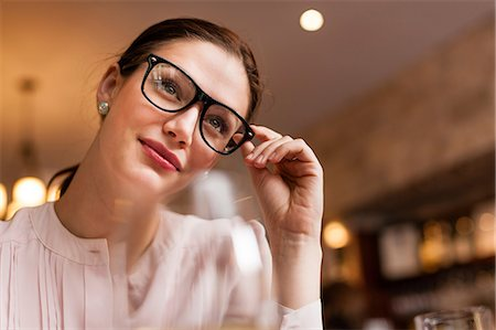 Close up shot of a woman Stock Photo - Premium Royalty-Free, Code: 614-06813654