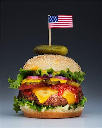 stick - Burger with US flag Stock Photo - Premium Royalty-Free, Code: 614-06813727