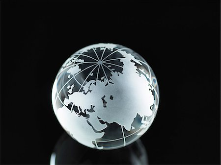 earth no people - Glass Globe illustrating Asia, India, China, Russia, Africa, Saudi Arabia, Middle East Stock Photo - Premium Royalty-Free, Code: 614-06895654