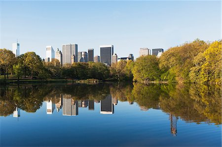 Lake in Central Park, New York City, USA Fotografie stock - Premium Royalty-Free, Codice: 614-06896438