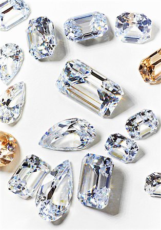 Cubic zirconium made to look like diamonds Stock Photo - Premium Royalty-Free, Code: 614-06897953