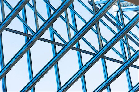 estructura - Close up of steel girders on construction frame Foto de stock - Sin royalties Premium, Código: 614-06974136