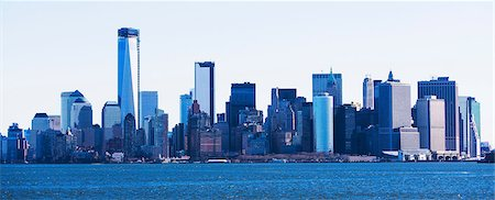 edificio - Hudson River and New York City skyline, USA Foto de stock - Sin royalties Premium, Código: 614-06974146