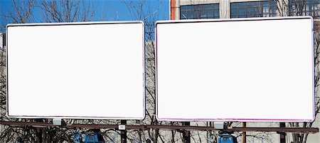 Blank billboards in city Stock Photo - Premium Royalty-Free, Code: 614-06974164