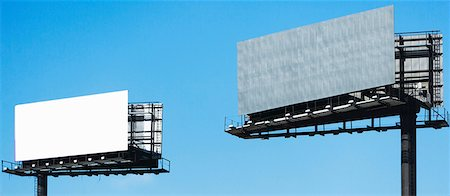 Blank billboards against blue sky Stock Photo - Premium Royalty-Free, Code: 614-06974163