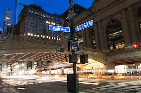 street - Street signs outside Grand Central Station, New York City, USA Stock Photo - Premium Royalty-Free, Code: 614-06974179