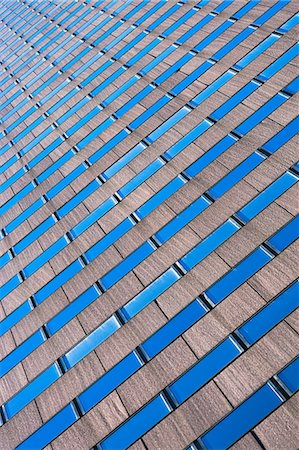 patterned - Abstract view of skyscraper, New York City, USA Stock Photo - Premium Royalty-Free, Code: 614-06974197