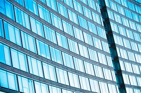 rectangle - Abstract of office building with curved facade Stock Photo - Premium Royalty-Free, Code: 614-06974207