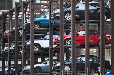 Cars parked in automatic parking lot Stock Photo - Premium Royalty-Free, Code: 614-06974217
