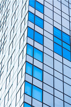 rectangle - Corner detail of office building with glass facade Stock Photo - Premium Royalty-Free, Code: 614-06974210