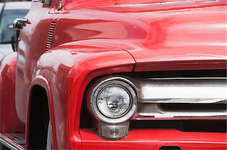 red - Close up of red vintage chevrolet truck Stock Photo - Premium Royalty-Free, Code: 614-06974224