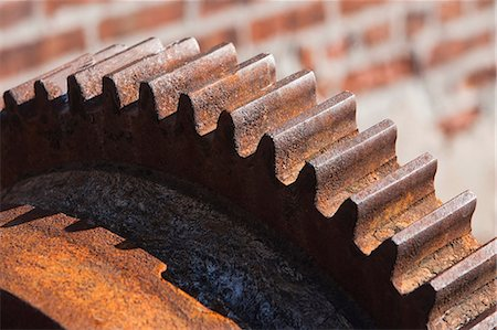 Close up of rusting cogwheel Stock Photo - Premium Royalty-Free, Code: 614-06974241