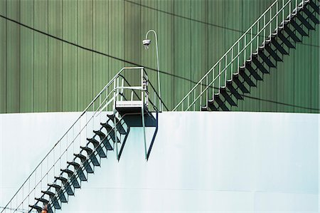 Metal stairway and industrial structure Stock Photo - Premium Royalty-Free, Code: 614-06974243