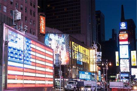 Illuminated billboards at night, New York, USA Stock Photo - Premium Royalty-Free, Code: 614-06974252