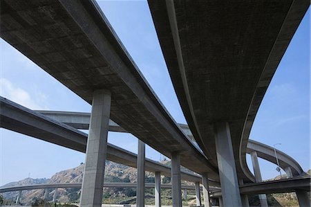 Highway overpass in Los Angeles, California, USA Stock Photo - Premium Royalty-Free, Code: 614-06974425