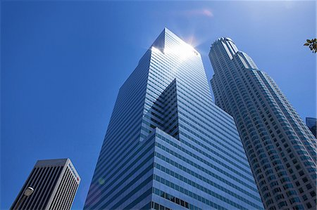 Modern skyscrapers in downtown Los Angeles, USA Stock Photo - Premium Royalty-Free, Code: 614-06974429
