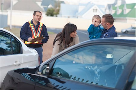 Car accident scene Stock Photo - Premium Royalty-Free, Code: 614-06973602