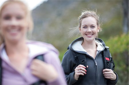 female hiking - Two girls hiking Stock Photo - Premium Royalty-Free, Code: 614-06973779