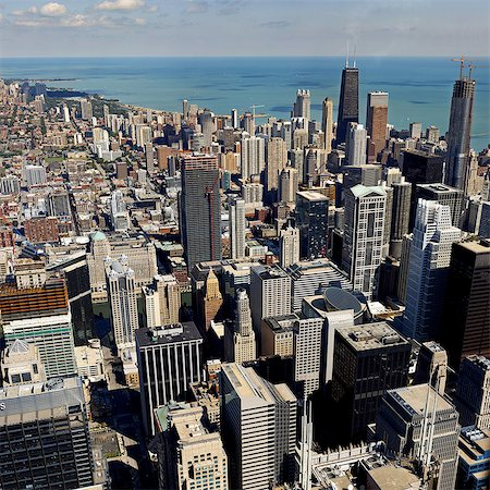 City of Chicago, elevated view Stock Photo - Premium Royalty-Free, Code: 614-07032011
