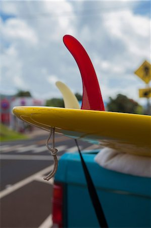 Surf boards on truck, Kauai, Hawaii, USA Stock Photo - Premium Royalty-Free, Code: 614-07146085