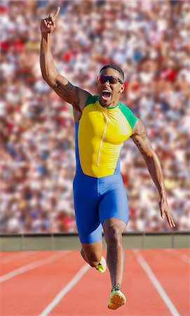 finish line - Runner at finish line Stock Photo - Premium Royalty-Free, Code: 614-07194385