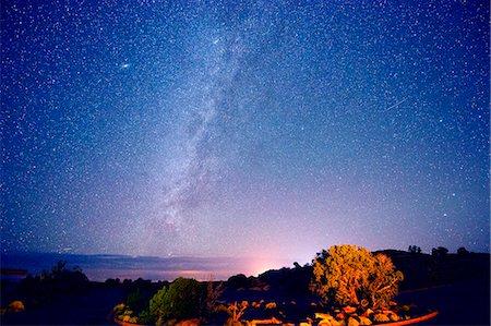 sky stars - Stars in night sky, Moab, Utah, USA Stock Photo - Premium Royalty-Free, Code: 614-07239924