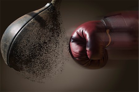 practise - Close up boxer and punch bag with blurred motion Stock Photo - Premium Royalty-Free, Code: 614-07239993