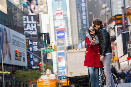 Young couple on vacation, New York City, USA Stock Photo - Premium Royalty-Free, Code: 614-07444077