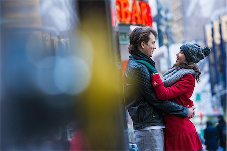 Young tourist couple hugging, New York City, USA Stock Photo - Premium Royalty-Free, Code: 614-07444078