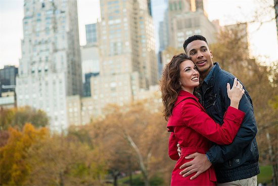 Young tourist couple in Central Park, New York City, USA Stock Photo - Premium Royalty-Free, Image code: 614-07444172