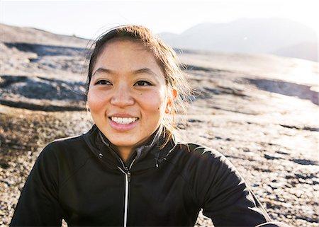 Portrait of young female hiker, Squamish, British Columbia, Canada Stock Photo - Premium Royalty-Free, Code: 614-07487136