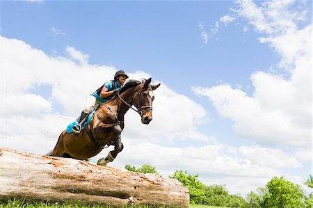 Horse rider jumping on horse Stock Photo - Premium Royalty-Free, Code: 614-07708226