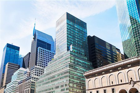 Office buildings and skyscrapers in financial district, Manhattan, New York, USA Stockbilder - Premium RF Lizenzfrei, Bildnummer: 614-07806511