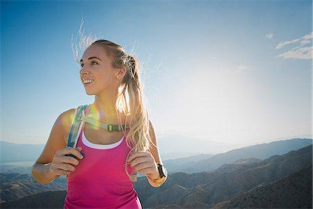 Woman hiking, Joshua Tree National Park, California, US Stock Photo - Premium Royalty-Free, Code: 614-07911767