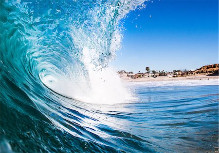 splash - Barreling wave, close-up, California, USA Stock Photo - Premium Royalty-Free, Code: 614-08030533