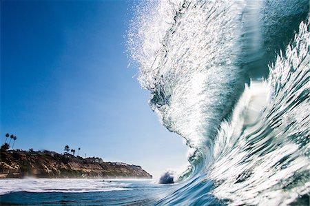 Big surfing ocean wave, Encinitas, California, USA Stock Photo - Premium Royalty-Free, Code: 614-08030680