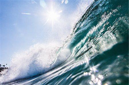 Big surfing ocean wave, Encinitas, California, USA Stock Photo - Premium Royalty-Free, Code: 614-08030682