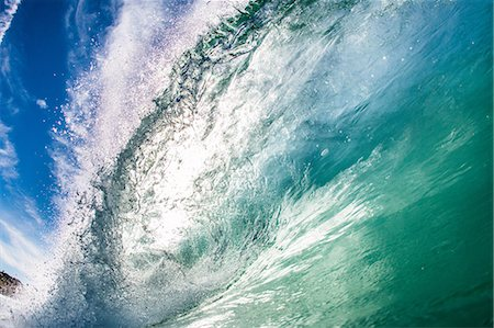 Barreling wave, California, USA Stock Photo - Premium Royalty-Free, Code: 614-08030779