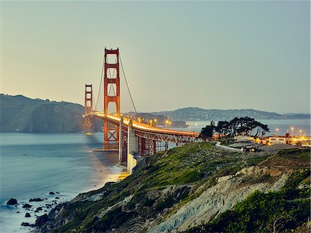 Golden Gate Bridge, San Francisco, California, USA Photographie de stock - Premium Libres de Droits, Code: 614-08119936