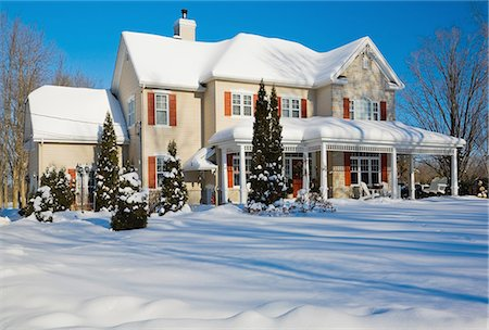 quaint house - House in winter, Quebec, Canada Stock Photo - Premium Royalty-Free, Code: 614-08148339