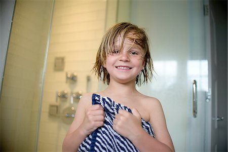 shower - Boy after shower Stock Photo - Premium Royalty-Free, Code: 614-08270165