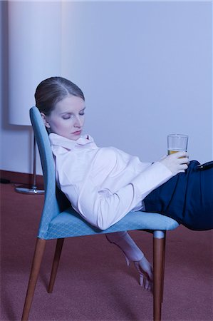 woman in hotel room, asleep Stock Photo - Premium Royalty-Free, Code: 614-08866194