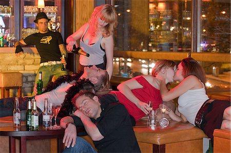 group of people in nightclub hanging around Stock Photo - Premium Royalty-Free, Code: 614-08866196