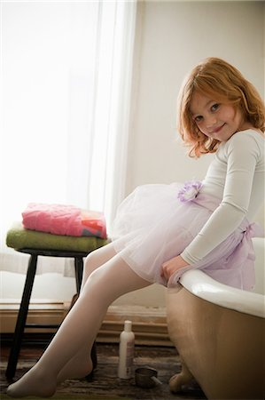 Portrait of girl in bathroom Stock Photo - Premium Royalty-Free, Code: 614-08873264