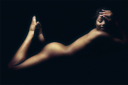 Female nude Stock Photo - Premium Royalty-Free, Code: 614-00386024