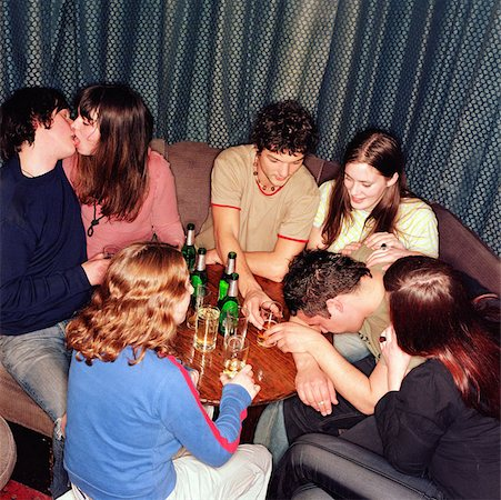 Binge drinking Stock Photo - Premium Royalty-Free, Code: 614-00597876